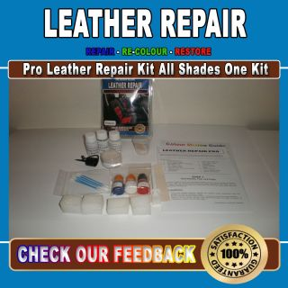 Leather Furniture Repair & Restoring Kit Rips Scratches Scuffing