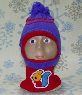 Kid/Child Winter Ski Mask Visor Beanie,Hat,Cap​, # 200 Purple/Red