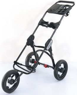 NEW 2013 X6+ 3 SPEED THREE WHEEL COMPACT GOLF PUSH PULL CART TROLLEY
