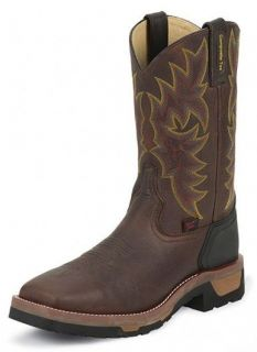 Tony Lama TW1061 Brown Bark Western Safety Composite Toe Work Boot