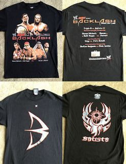 VINTAGE WWF WWE Raw Wrestling Shirt Backlash Batista Hulk Hogan