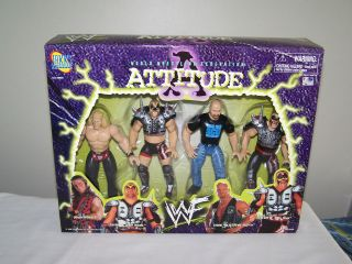 WWF Attitude Shawn Michaels,Steve Austin,Legion of Doom Hawk,Animal,WW