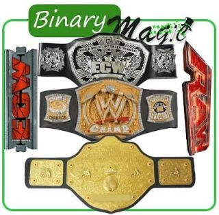 WWE ECW Raw Championship Belts World Heavy Weight Champ Spinner