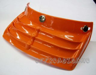 VINTAGE VENTED HELMET VISOR MOTOCROSS MOTORCYCLE MX ATV ORANGE PEAK 3