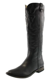 Spirit by Lucchese NEW Sandra Black Leather Cowboy Western Boots 8