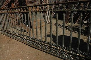 Antique cast iron ornate balcony or fence railing wrought iron details