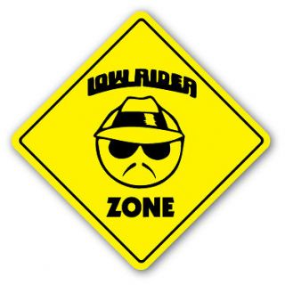 LOW RIDER ZONE Sign new truck lowrider rims gift custom car funny