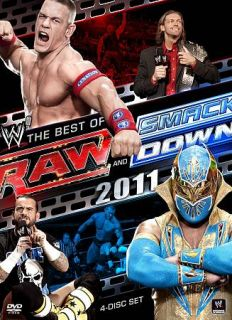 WWE Raw and Smackdown   The Best of 2011 DVD, 2012, 4 Disc Set