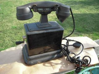 antique CRANK TELEPHONE ericsson bakelite metal