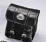 YAMAHA ROAD STAR BLACK LEATHER STORAGE BACKREST BAG
