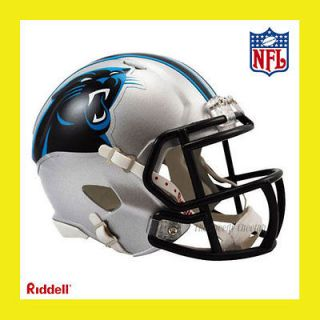 PANTHERS OFFICIAL NFL MINI SPEED FOOTBALL HELMET by RIDDELL (NEW 2012