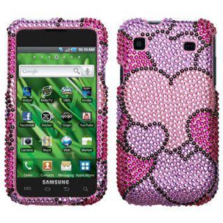 Cloudy Hearts Diamante Bling Case Cover Samsung Galaxy S 4G T959V