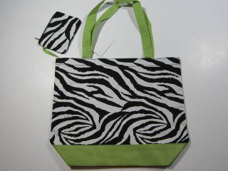 zebra print book bags