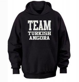TEAM TURKISH ANGORA HOODIE   warm cozy top   cat and kitten pet owners