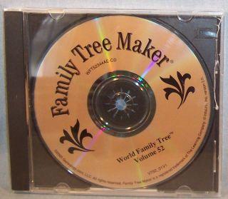 FAMILY TREE MAKER~WORLD FAMILY TREES CD~VOL #52~CASE~