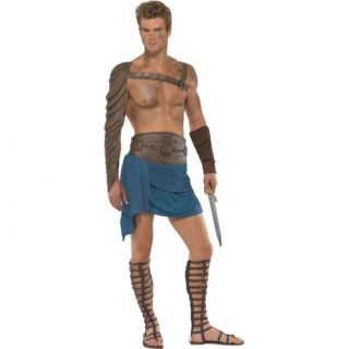 Adult Medium Licensed Spartacus Gladiator Outfit Fancy Dress Costume