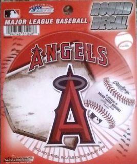 Anaheim Angels 4 Round Decal Bumper Sticker Emblem Baseball CLR LA