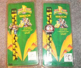 Set of 2 Mighty Morphin Power Ranger Watches Red & Megazord NEW UNUSED