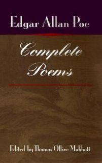 Ollive Mabbott and Edgar Allan Poe 2000, Paperback, Reprint