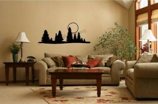 Trees Moon Vinyl Decal Wall Stickers Office Living Room Decor Camper