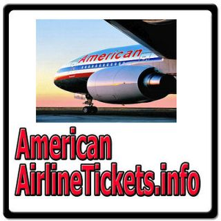 American Airline Tickets.info TRAVEL/AIRLINES/FLIGHT/VOUCHER/COUPON