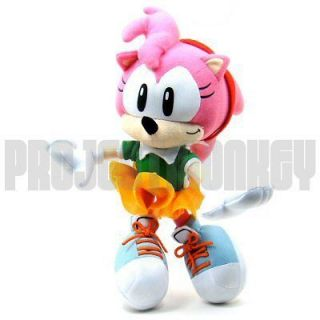 Sonic The Hedgehog Amy Rose Plush Doll Sega Anime Genuine Officially