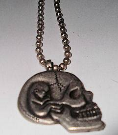 NEW* ALEX GREY SKULLFETUS PENDANT WITH CHAIN