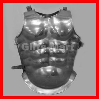 MEDIEVAL MUSCLE BODY ARMOR STEEL CHESTPLATE COLLECTIBLE ROMAN Fancy