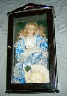 Collectible Porcelain Ashley Belle Doll in Display Case & COA