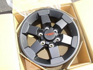 Set of 5 TRD BLACK Trail Edition Alloy Wheels for Tacoma and FJ