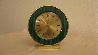 Vintage Linden wind up Alarm 7 Jewel brass Clock works perfectly