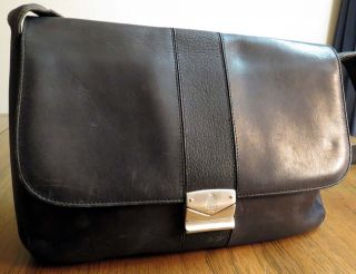 Vintage MARK CROSS Black Leather Shoulder Handbag Purse Cross Body