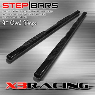 07 12 ACURA MDX 4 OVAL SIDE STEP NERF BAR RUNNING BOARD BLACK COATED