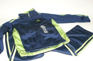 Adidas 2pc Activewear Set Sweatsuit Sweatpants Full Zip Track Jacket