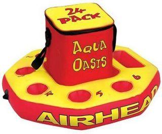 Kwik Tek Airhead Aqua Oasis Inflatable Island Floating Pool Bar BRAND
