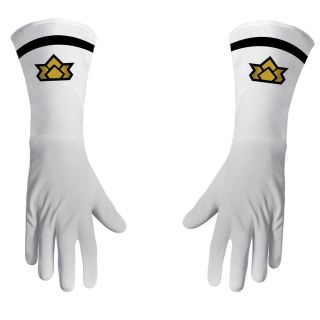 Show Saban Power Rangers Samurai White Costume Accessory Ranger Gloves