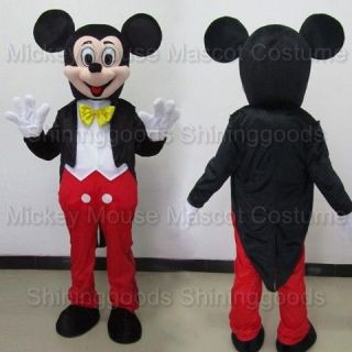 ADULT CARTOON MICKEY MOUSE COSTUME MASCOT PARTY COSTUME