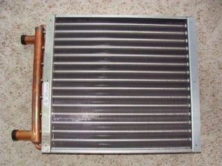 12x18 Water to Air Heat Exchanger ,Coil, Outdoor wood Boiler