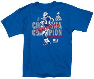 Victor Cruz Blue Reebok New York Giants Cha Cha Champion T Shirt