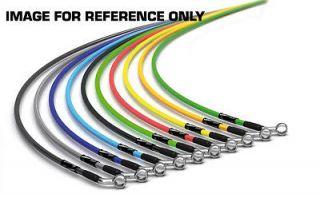 Goodridge BMW M535i (E12) 4 Line Stainless Colour Brake Hoses