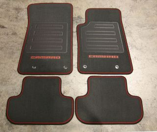2010 2012 CHEVROLET CAMARO Carpet Floor Mats W/ Logo 92221511 GENUINE