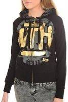 ABBEY DAWN BY AVRIL LAVIGNEWHAT THE HELL GOLD FOIL HOODIE M
