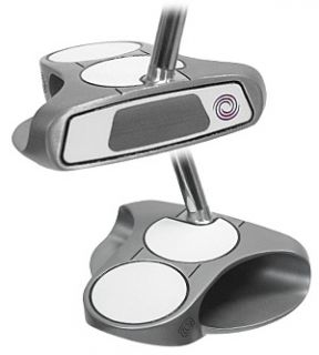 Odyssey White Steel 2 ball Center Shafted Putter Golf Club