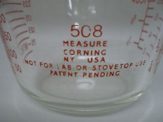 Pyrex 508 8 oz, Measuring Cup by Corning NY, USA