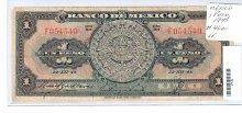 1948 #46a 1 Peso Note United States of Mexico XF 0TJU