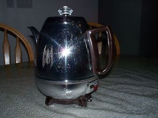 General Electric Automatic 9 Cup Pot Belly Percolator Coffee Maker