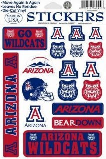 University of Arizona Wildcats Bear Down Decal Stickers