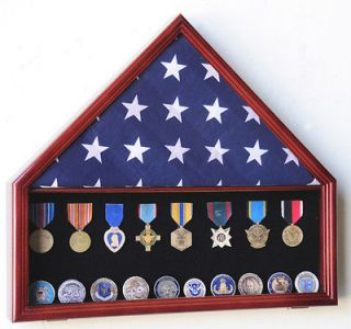 Flag & Medals Pins Patches Insignia Challenge Coin Display Case