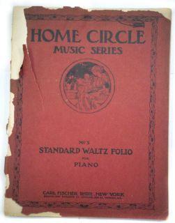 Home Circle Music Series No.3 Standard Waltz Folio For Piano/1912 Carl