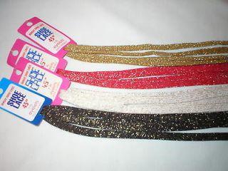 Lot Fashion Glitter Shoe Laces 4 pr. Gold Black Red White w/ gold